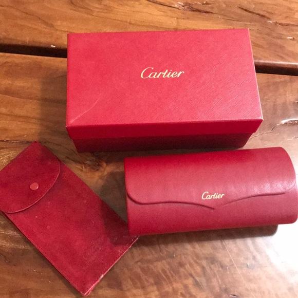 779c7b50e99e Cartier Accessories - Cartier sunglass case box and suede pouch 2004